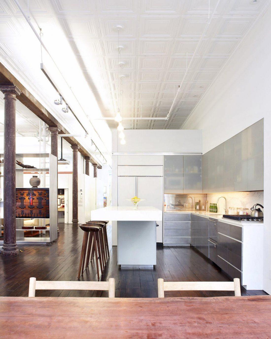 Дизайн интерьера квартиры в стиле лофт 24