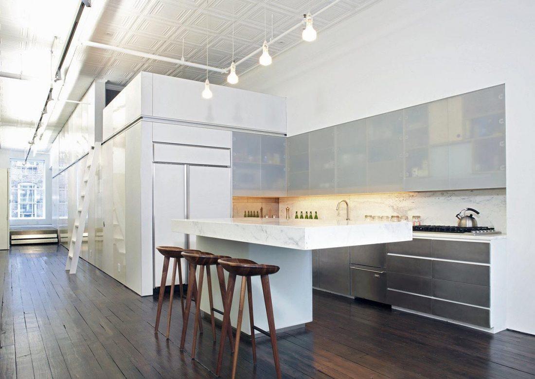 Дизайн интерьера квартиры в стиле лофт 25