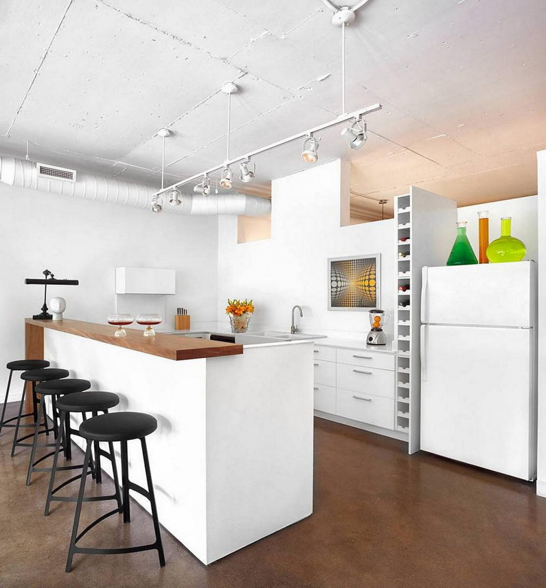 Дизайн интерьера квартиры в стиле лофт 32