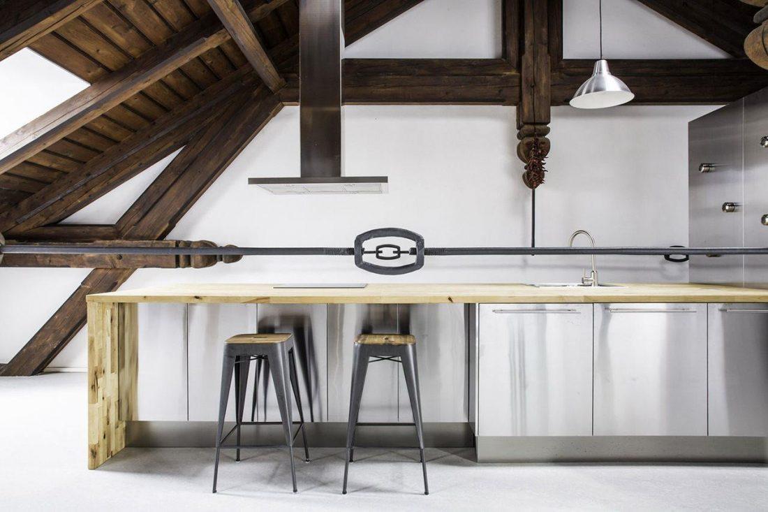 Дизайн интерьера квартиры в стиле лофт 38
