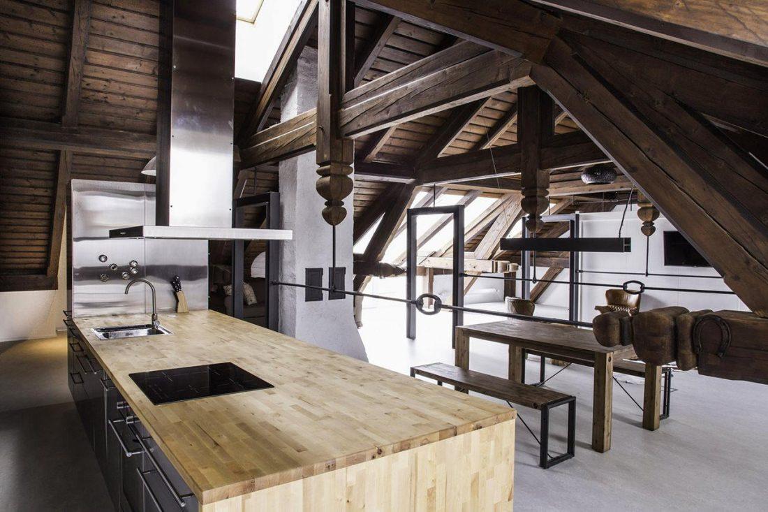 Дизайн интерьера квартиры в стиле лофт 39