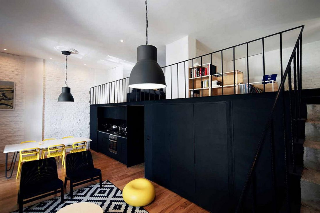 Дизайн интерьера квартиры в стиле лофт 4