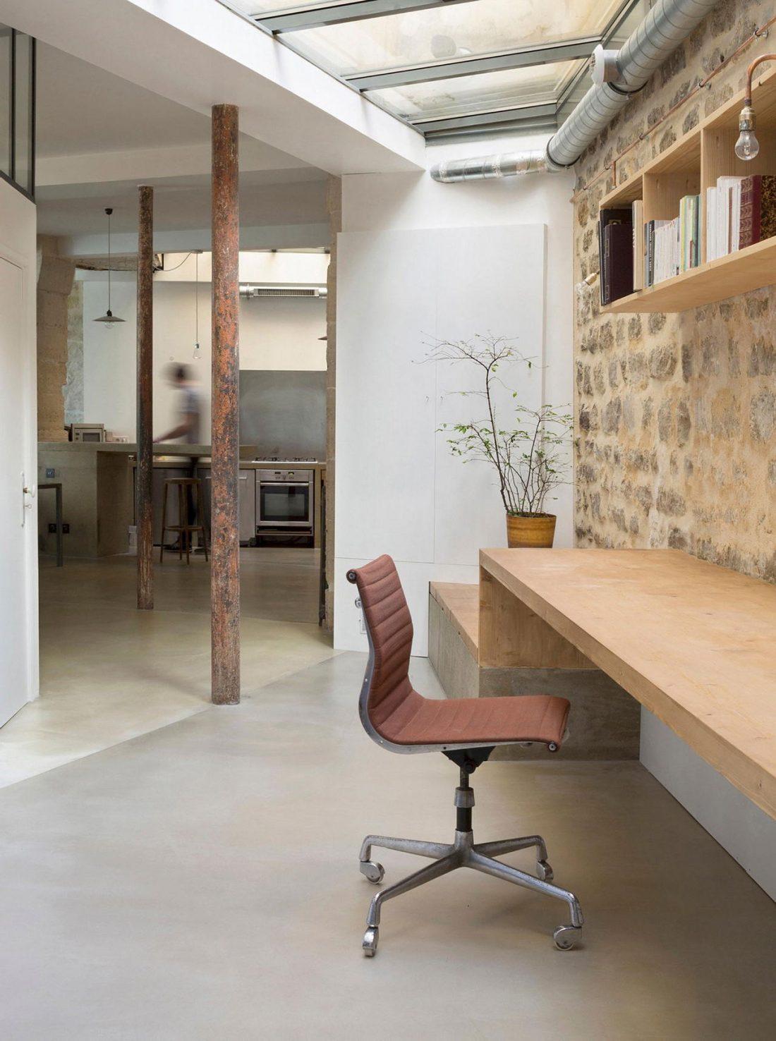 Дизайн интерьера квартиры в стиле лофт 46