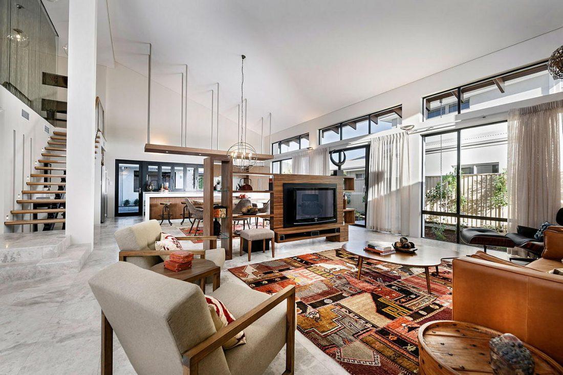 Дизайн интерьера квартиры в стиле лофт 48