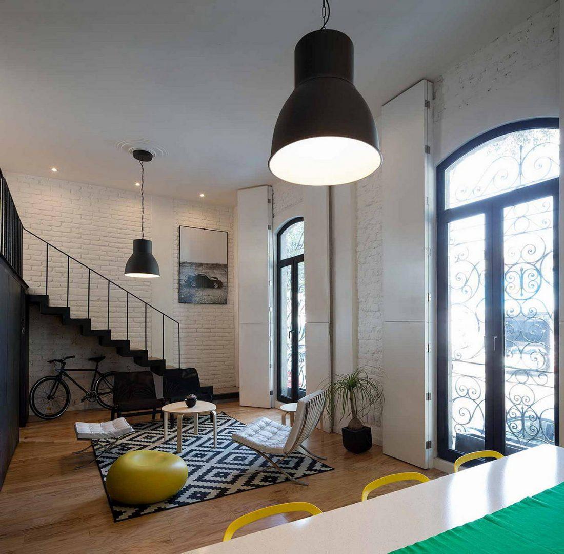 Дизайн интерьера квартиры в стиле лофт 5