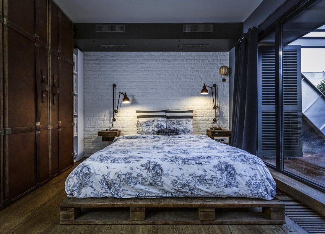 Спальня в стиле лофт 3