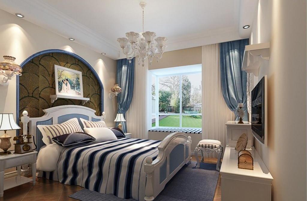 Средиземноморский стиль в интерьере спальни 2