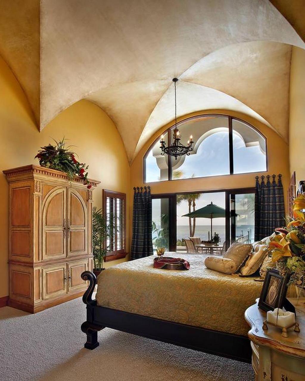 Средиземноморский стиль в интерьере спальни 5