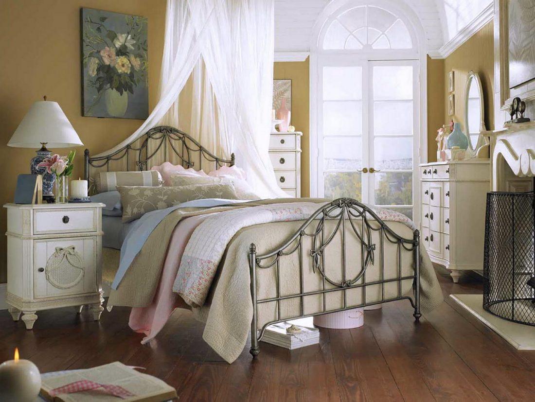 Стиль шебби-шик в спальне 1