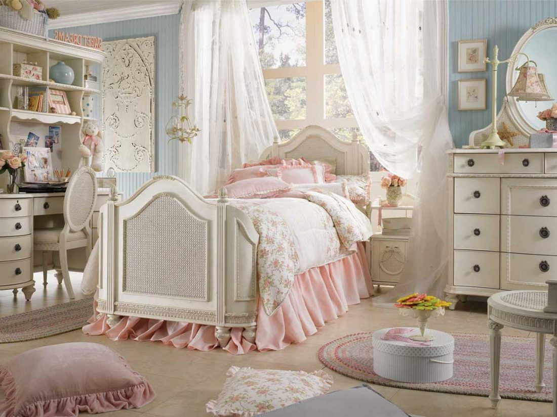 Стиль шебби-шик в спальне 12