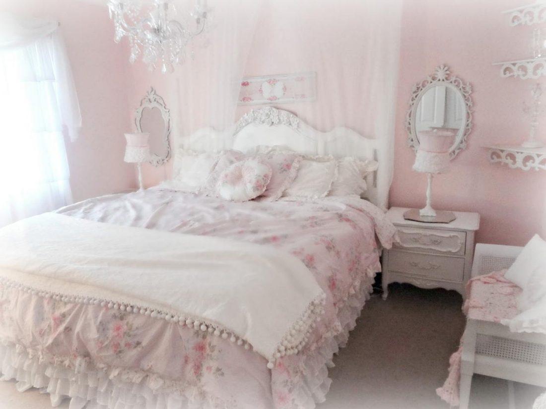 Стиль шебби-шик в спальне 4