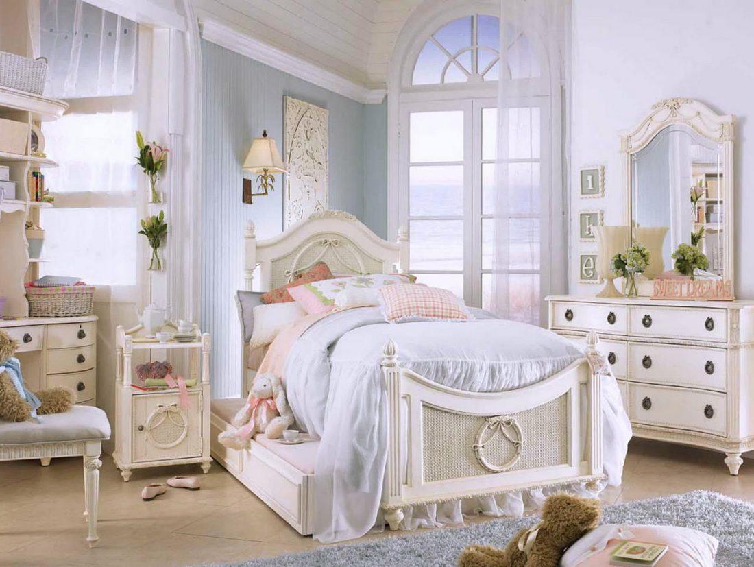 Стиль шебби-шик в спальне 9
