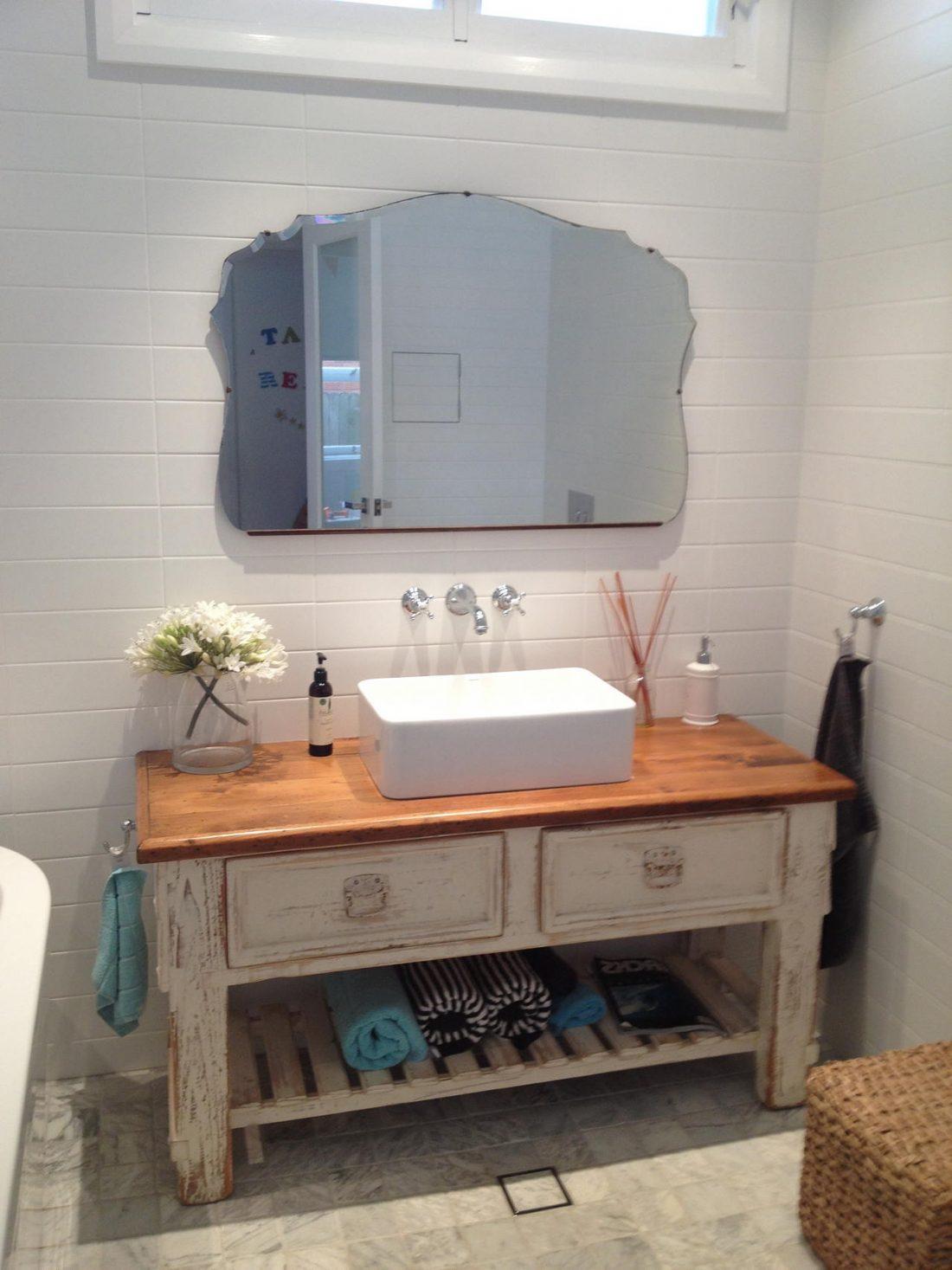 Стиль шебби-шик в ванной комнате 2