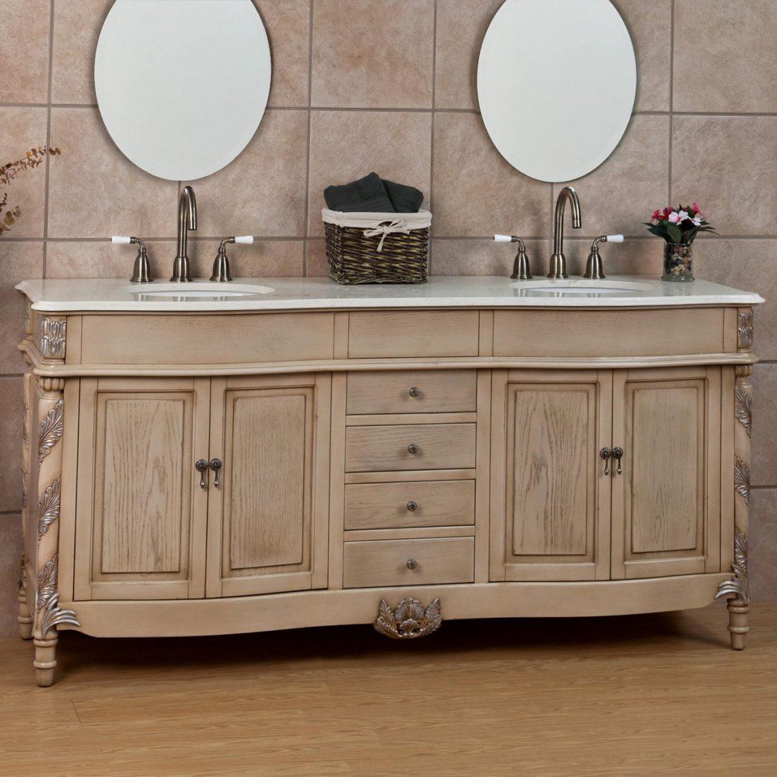 Стиль шебби-шик в ванной комнате 5