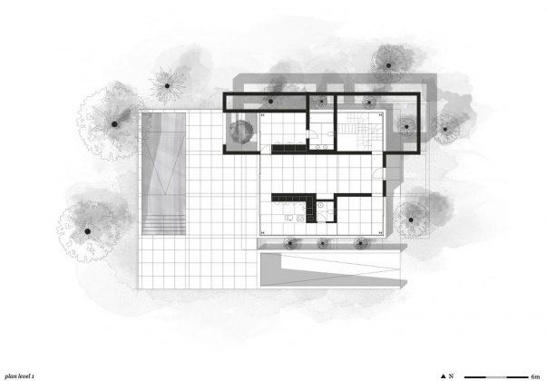 Дом из 5 террас и сада по проекту студии Corpo Atelier 32