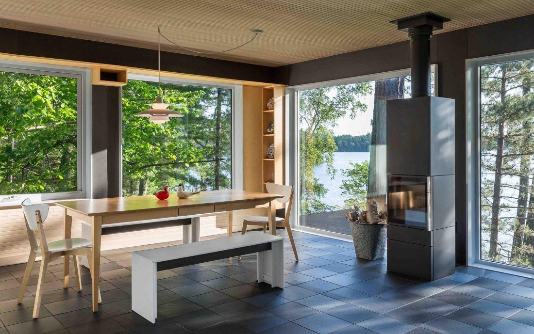 Дом на берегу озера от студии Salmela Architect 15