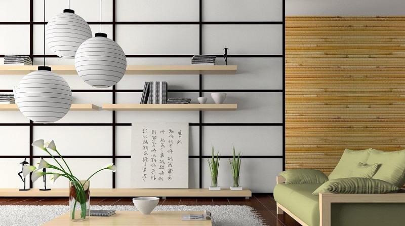 Фотографии интерьеров в японском стиле 12