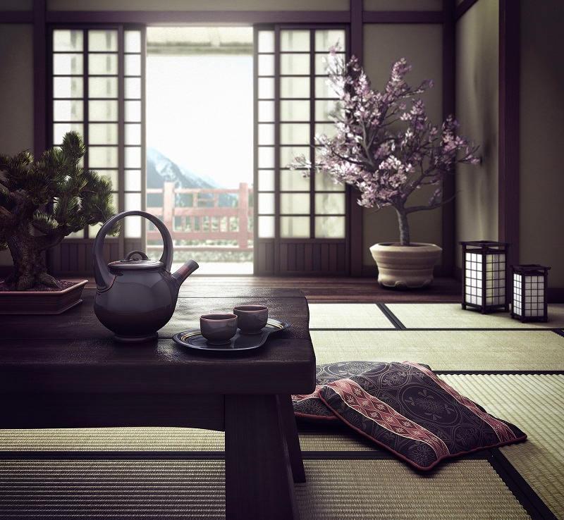 Фотографии интерьеров в японском стиле 14