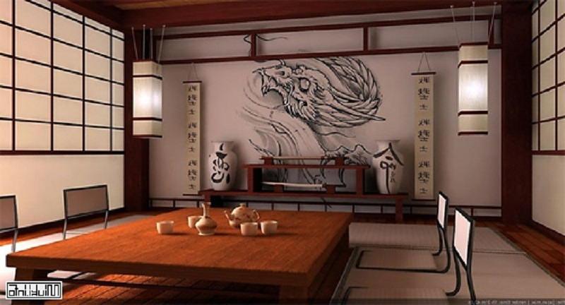 Фотографии интерьеров в японском стиле 31