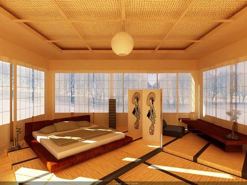 Фотографии интерьеров в японском стиле 78