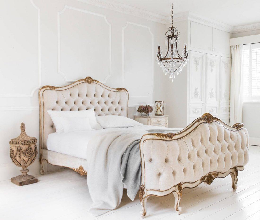 Кантри стиль в интерьере спальни — кровать 5