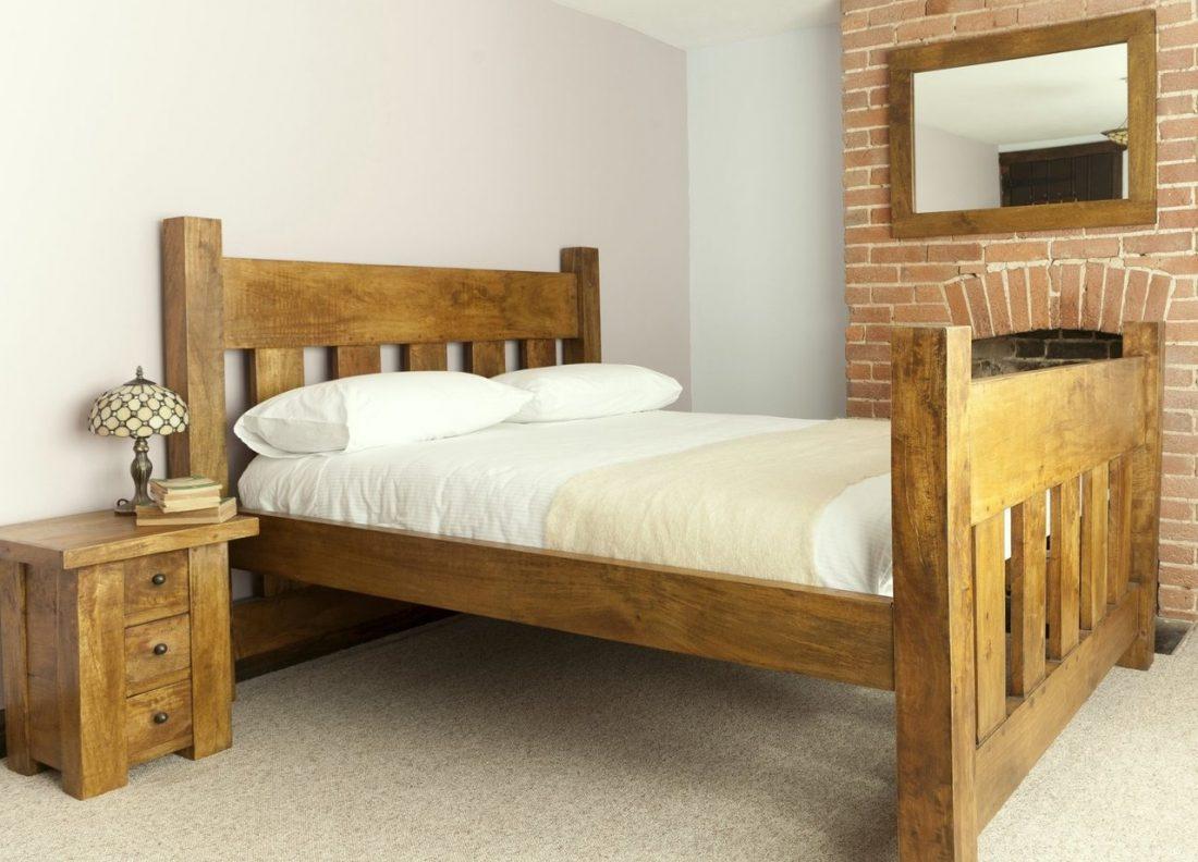 Кантри стиль в интерьере спальни — кровать 6