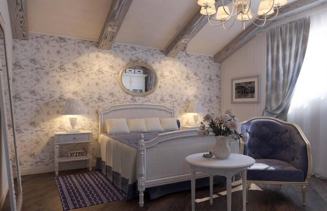Кантри стиль в интерьере спальни — прованс