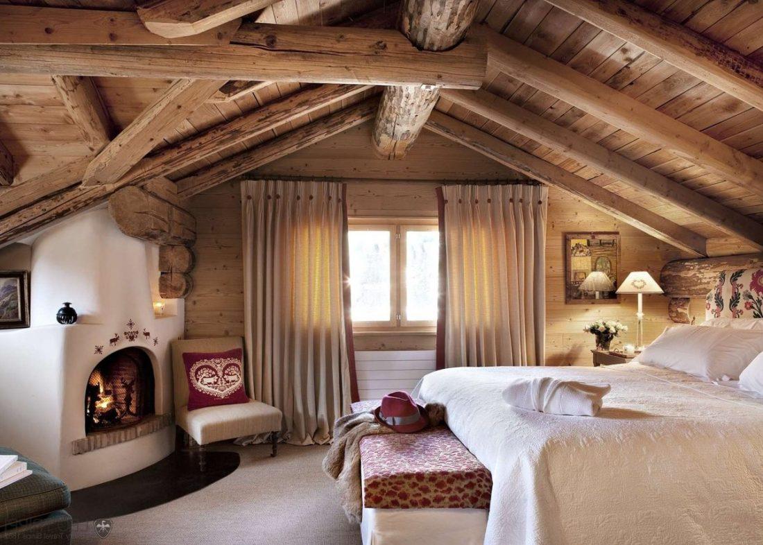 Кантри стиль в интерьере спальни — русский деревенский стиль