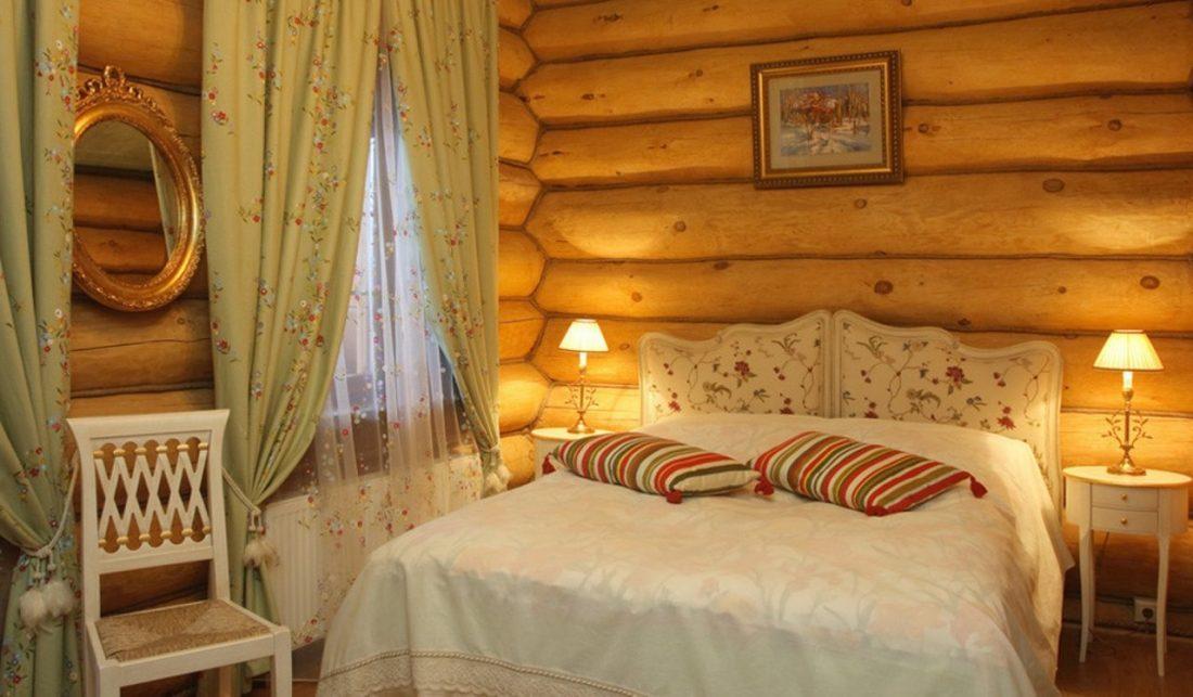 Кантри стиль в интерьере спальни — русский стиль