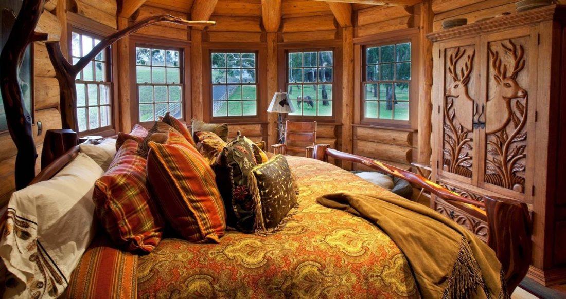 Кантри стиль в интерьере спальни — русский стиль 2