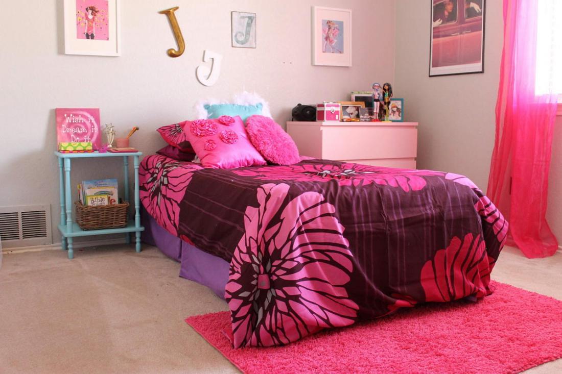 Спальня в розовых тонах — для романтических натур 10
