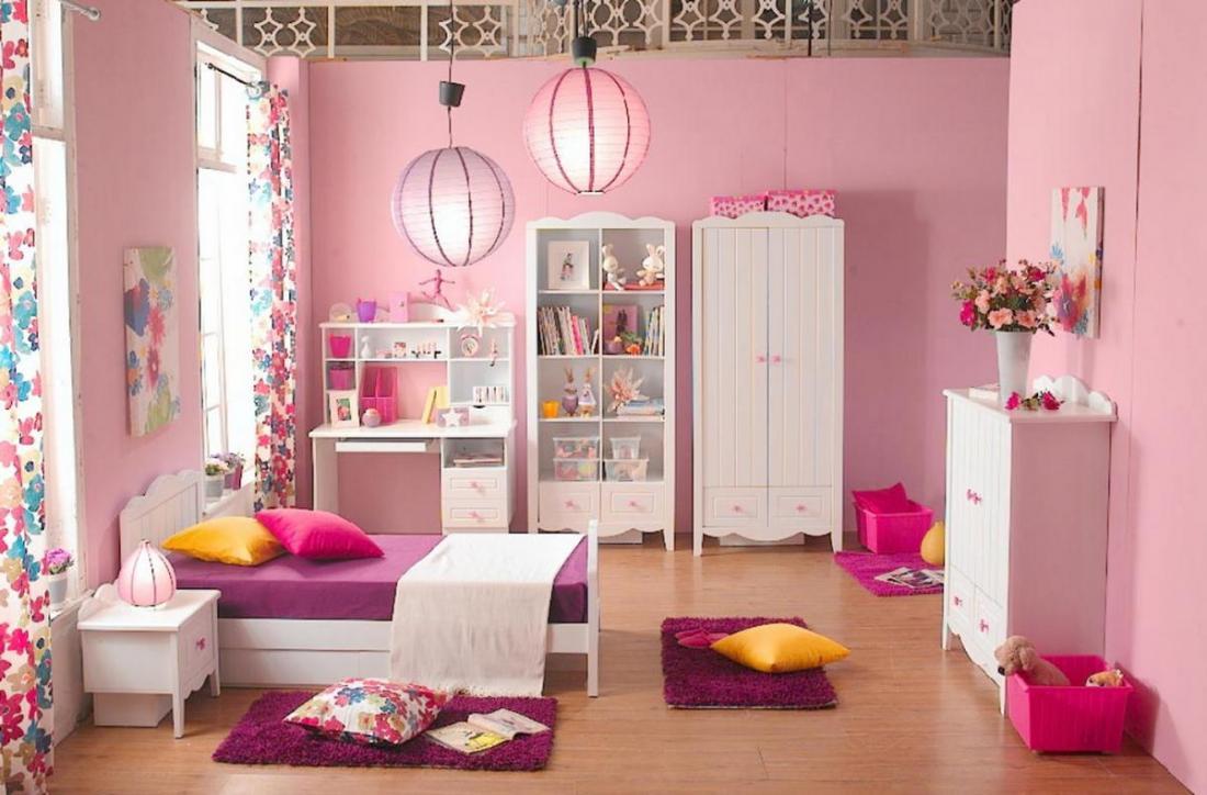 Спальня в розовых тонах — для романтических натур 11