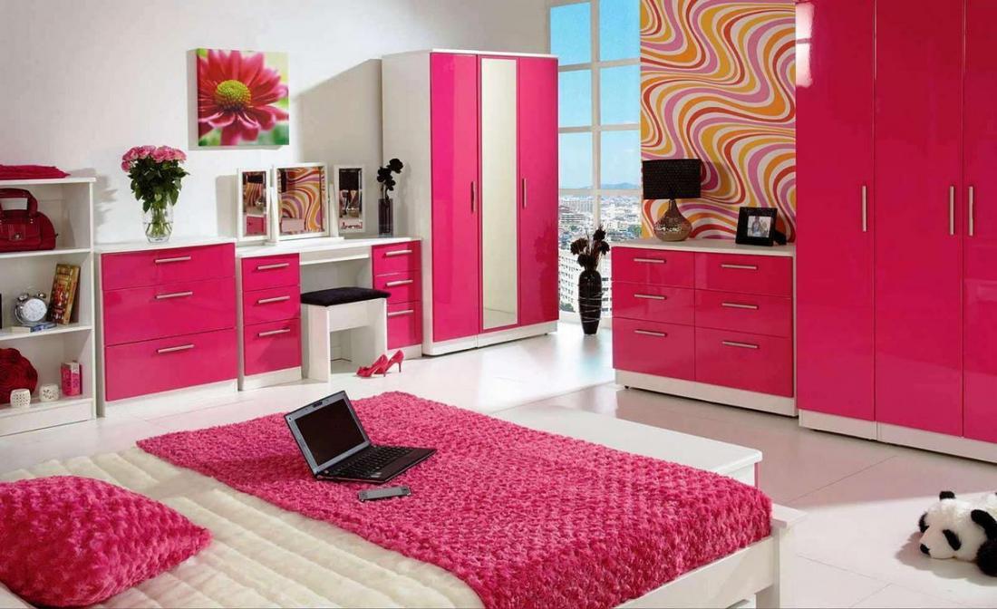Спальня в розовых тонах — для романтических натур 12