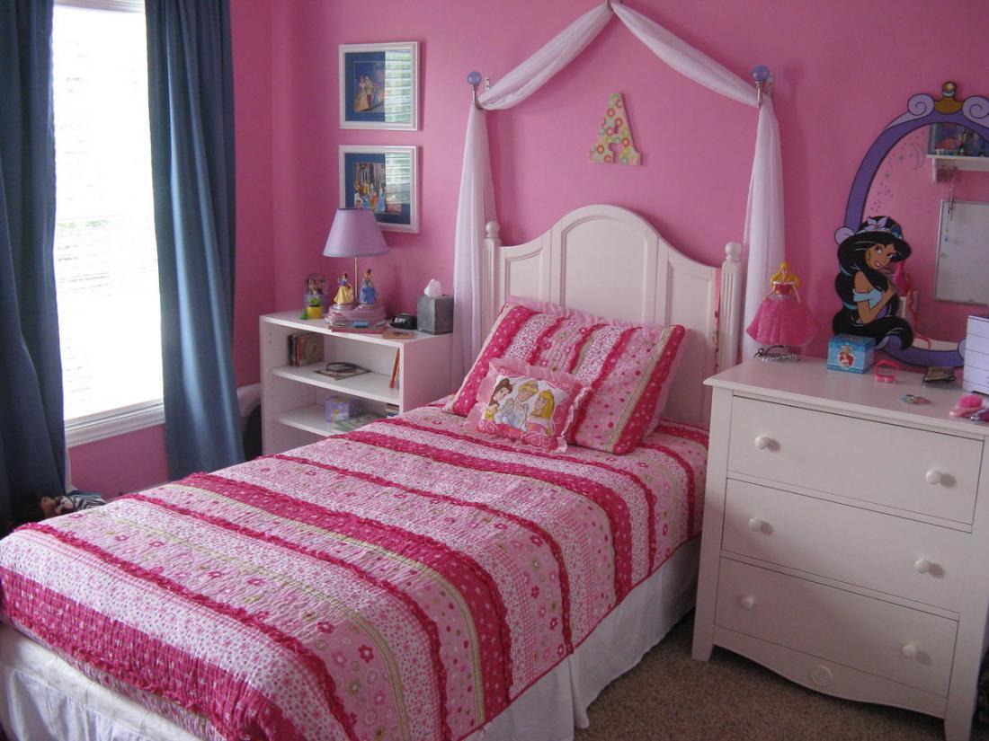 Спальня в розовых тонах — для романтических натур 14