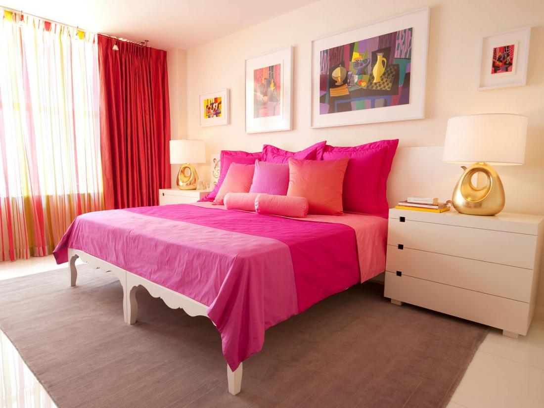 Спальня в розовых тонах — для романтических натур 16