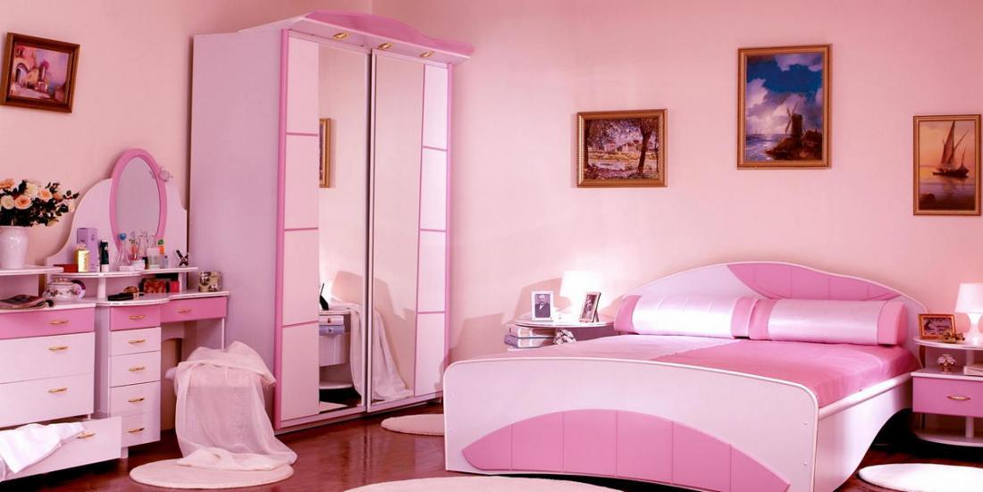 Спальня в розовых тонах — для романтических натур 17