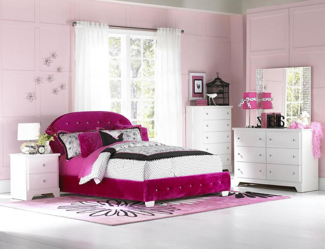 Спальня в розовых тонах — для романтических натур 18