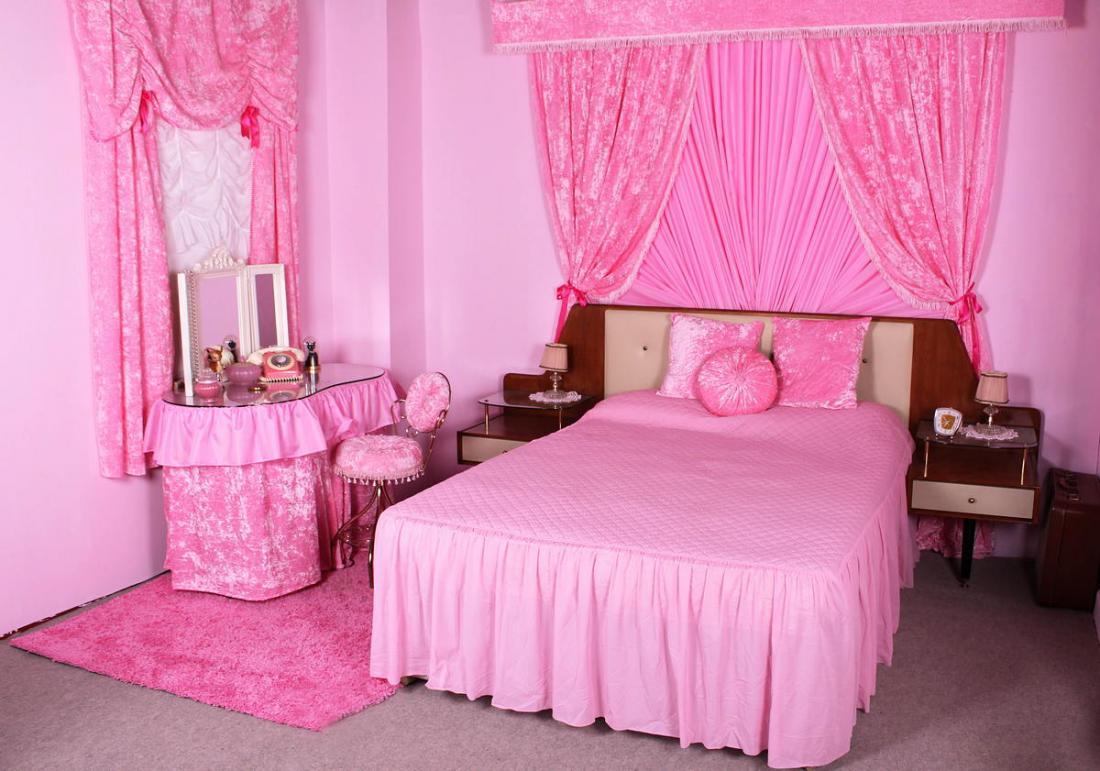 Спальня в розовых тонах — для романтических натур 2