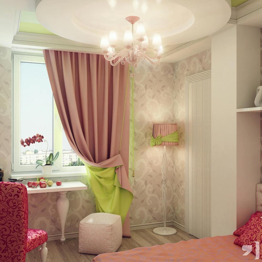 Спальня в розовых тонах — для романтических натур 21