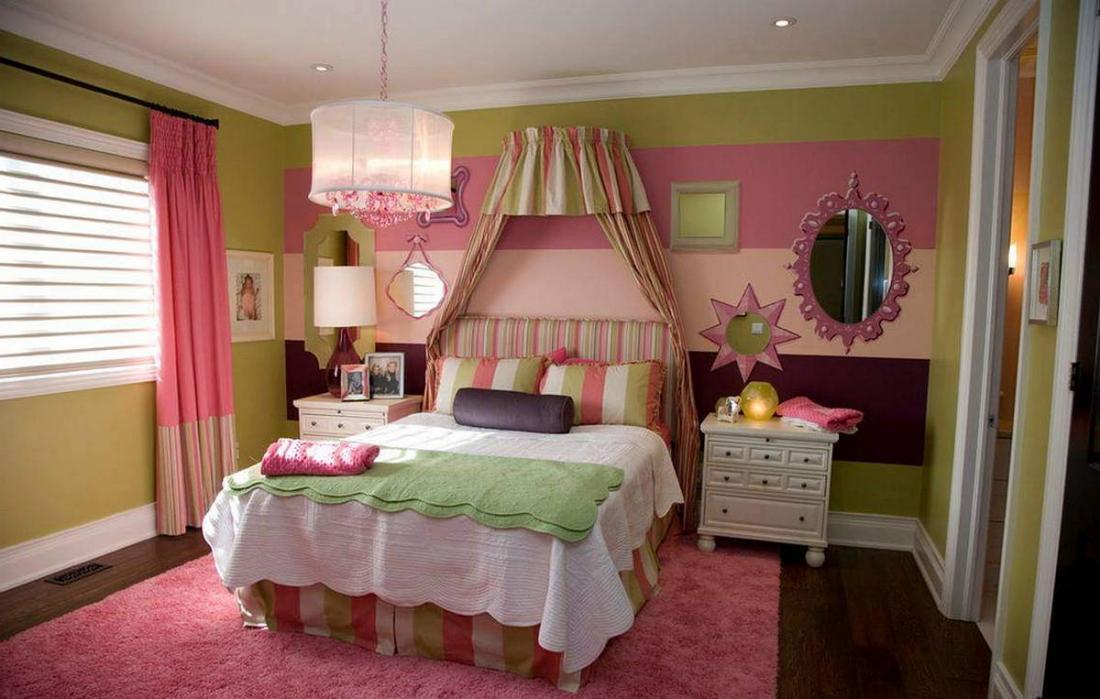 Спальня в розовых тонах — для романтических натур 25