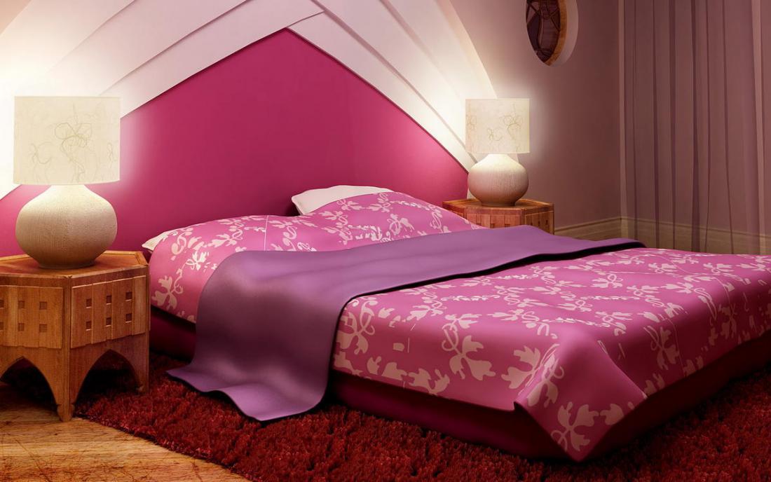 Спальня в розовых тонах — для романтических натур 6
