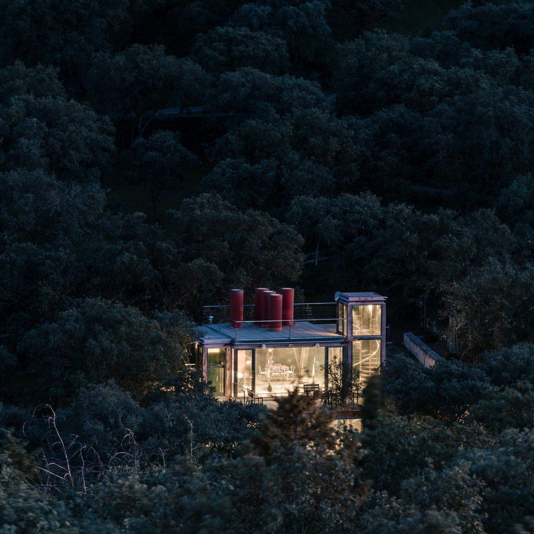 Стеклянный дом в лесу по проекту студии PENELAS ARCHITECTS 9