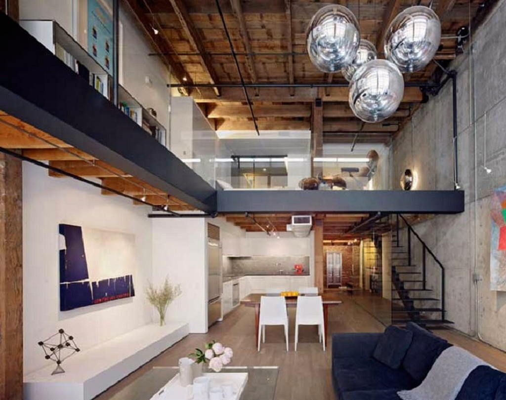 Квартира в стиле лофт 32