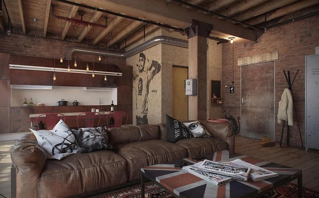 Квартира в стиле лофт 33
