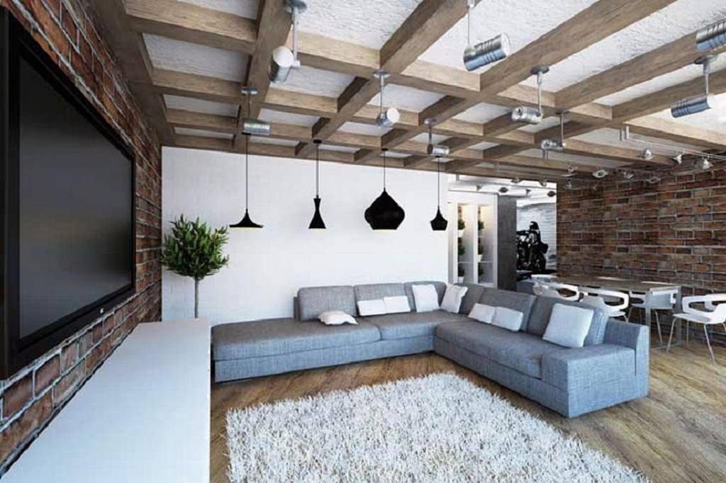 Квартира в стиле лофт 34