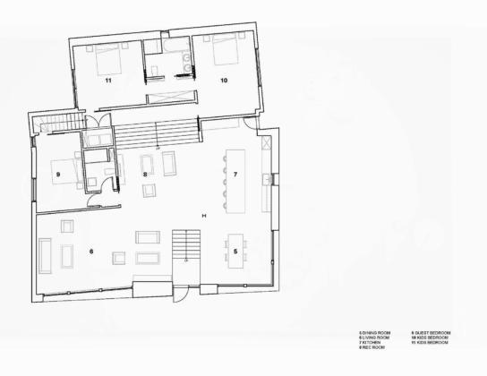 Вилла Webster Terrace – открытое пространство от студии TEAL 17