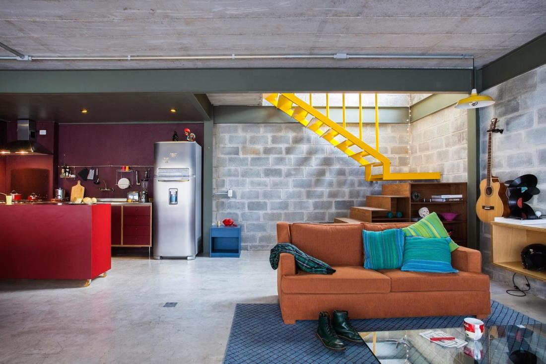 Богемный интерьер дома в Бразилии от ARKITITO Arquitetura 2