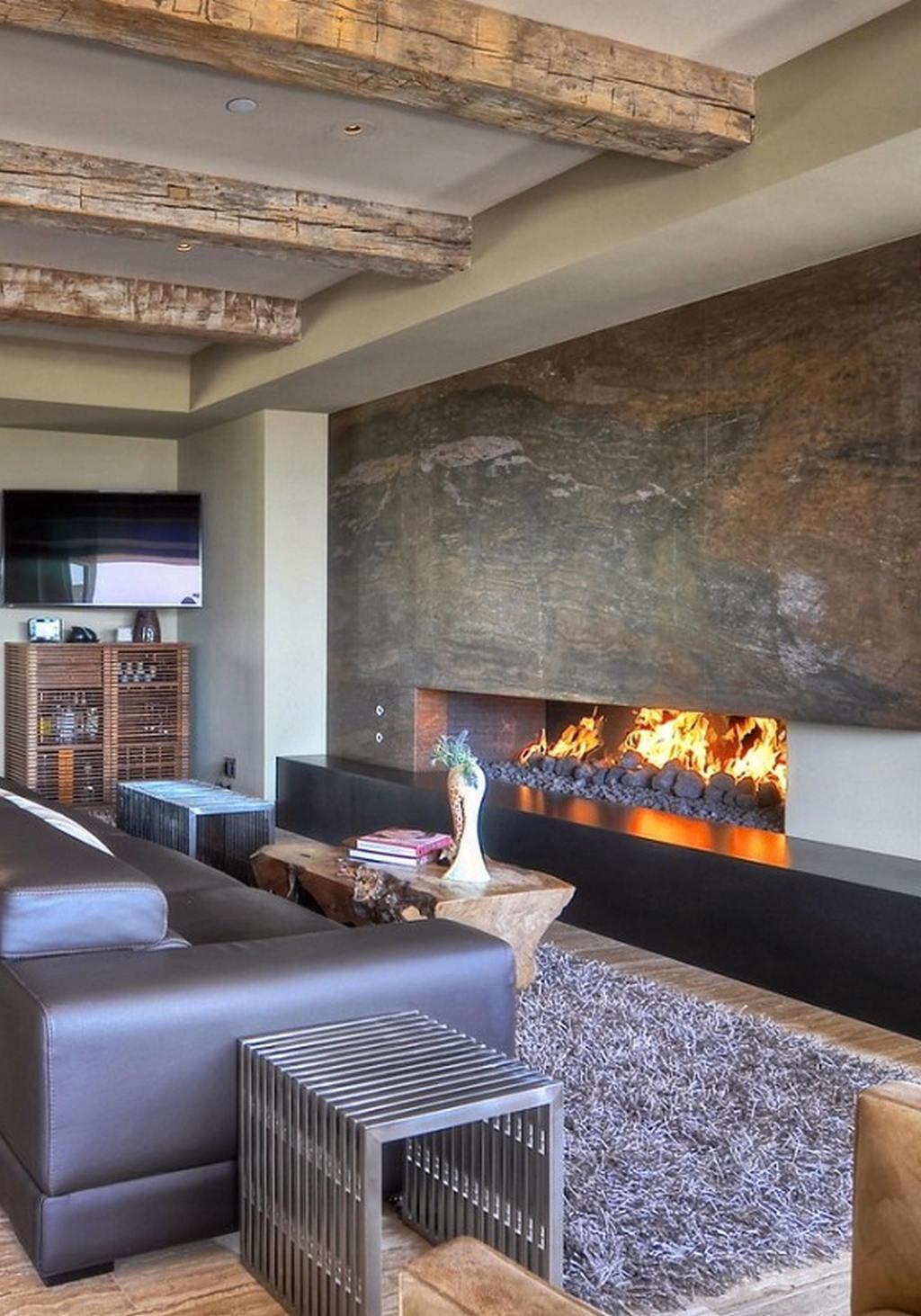 Тепло и уют — камин в интерьере квартиры и дома 10