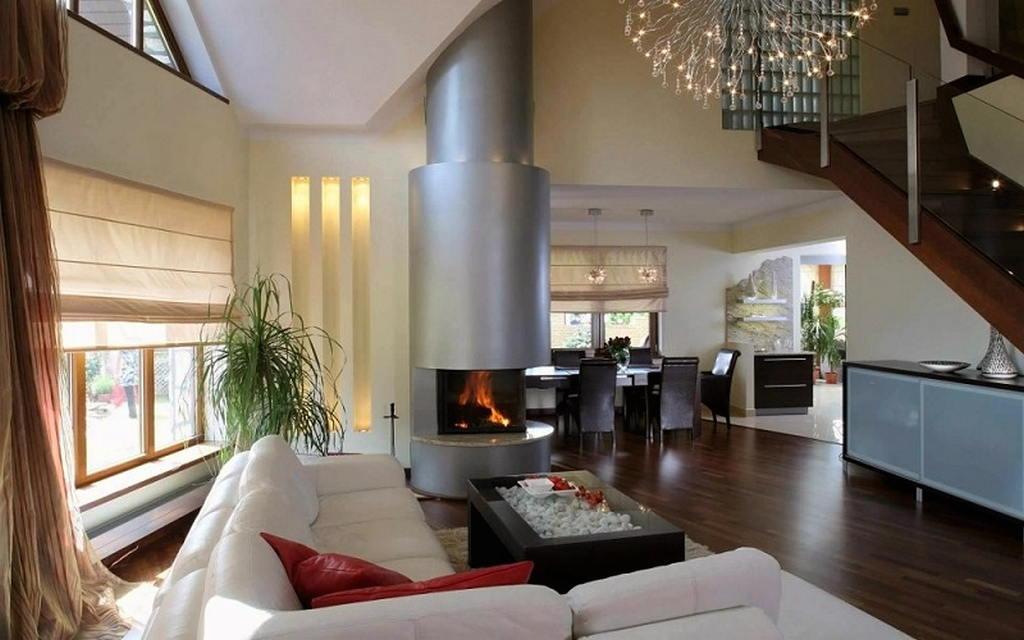 Тепло и уют — камин в интерьере квартиры и дома 103