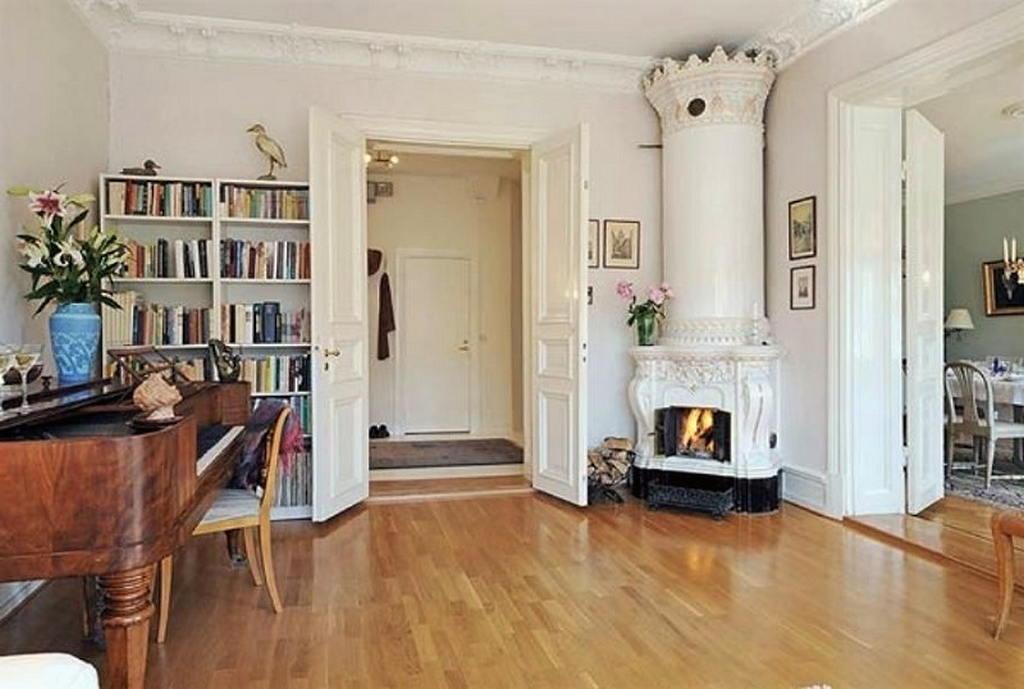 Тепло и уют — камин в интерьере квартиры и дома 104